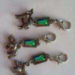 SA Flag Zipper Charms