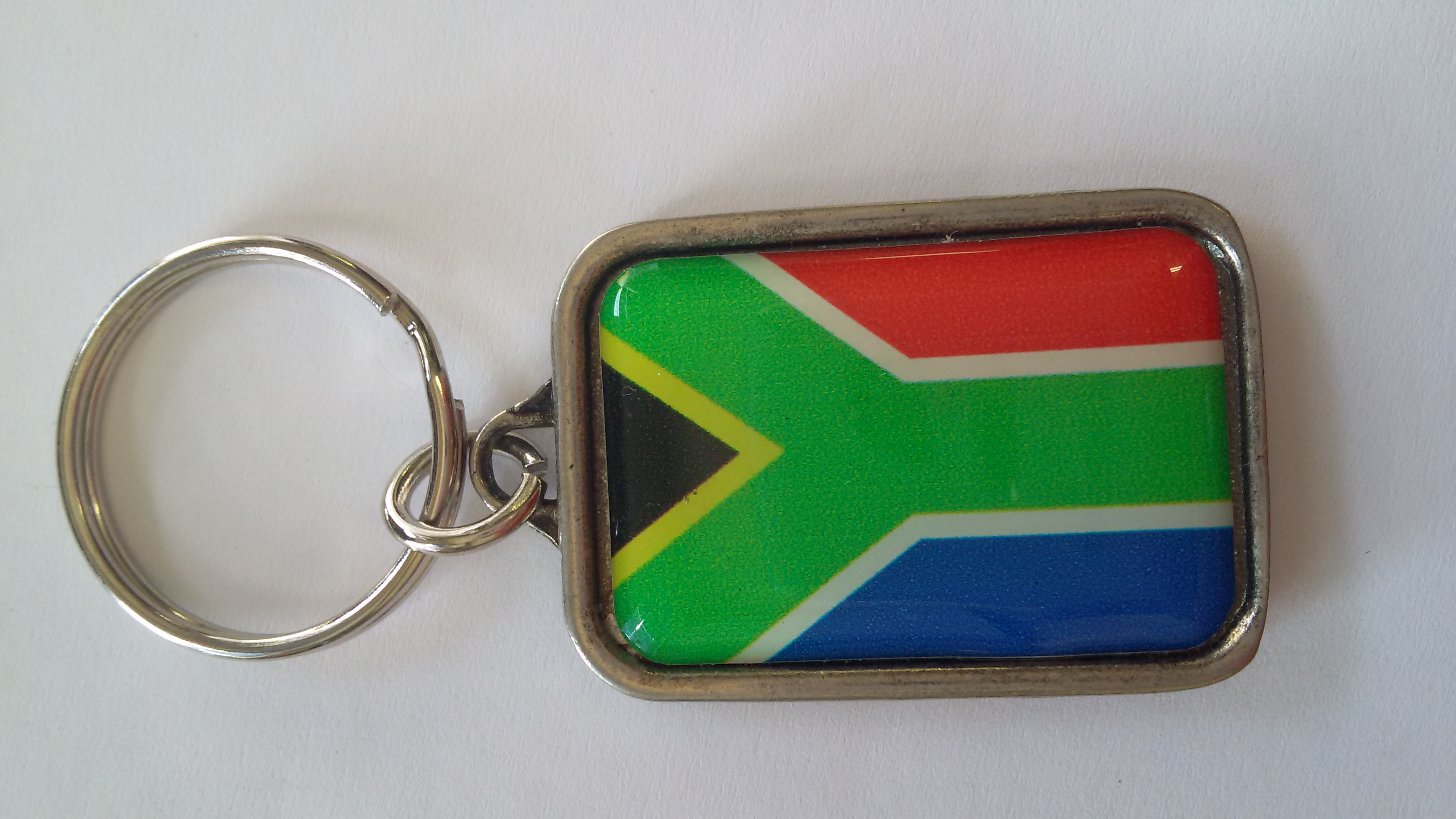 Rectangular SA Flag Key Rings