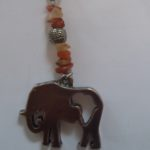 Africa Animal Gemchip Key Ring