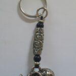 Glass Twirl Key Rings