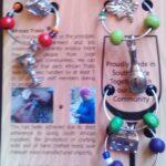 4 Bead Wine Glass Identifier on Card